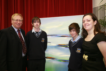 John Lawler and some of the Bridge to College team