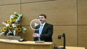 AIT President Prof. Ciarán Ó Catháin welcomes participants to EdTech2010
